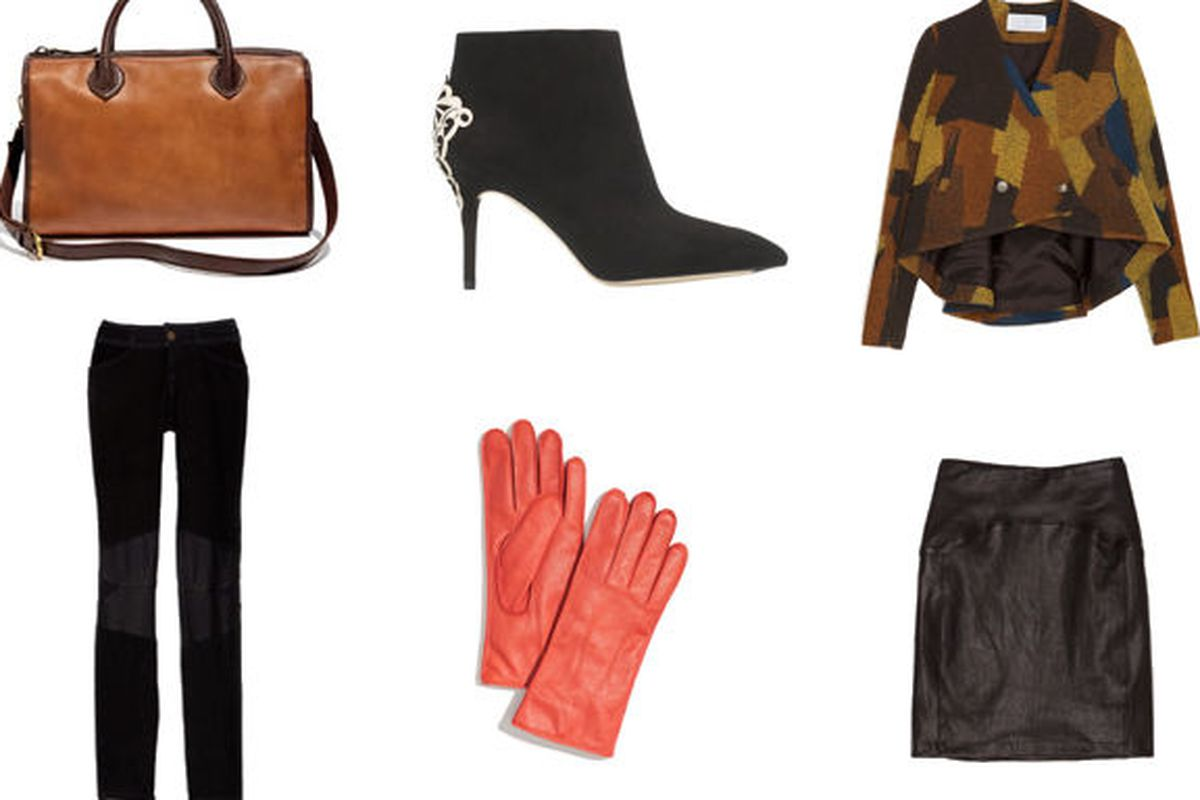 Accessories at Madewell, shoes by Brian Atwood, and apparel at Intermix