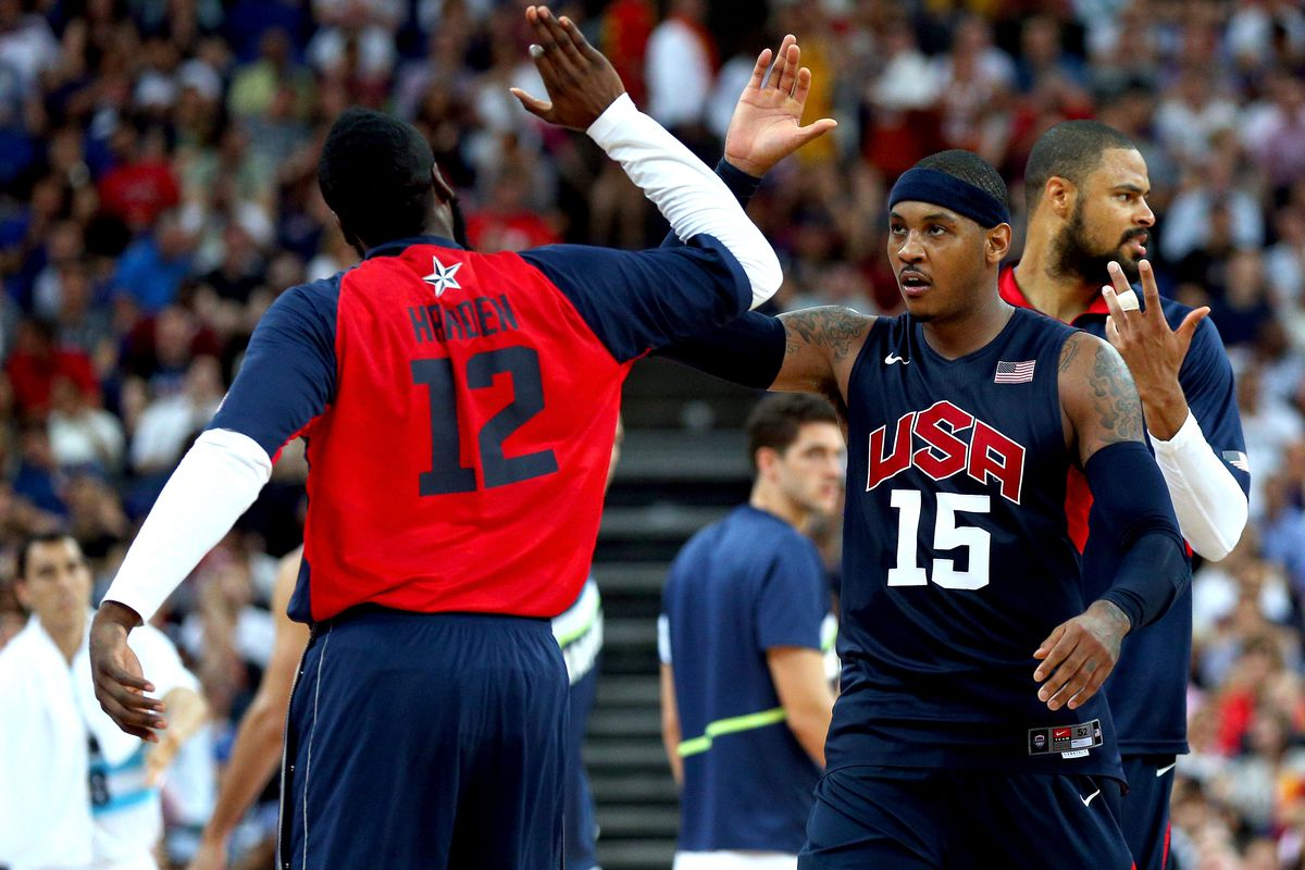 00b996abf60 Carmelo Anthony joins James Harden and Chris Paul for a pickup game ...