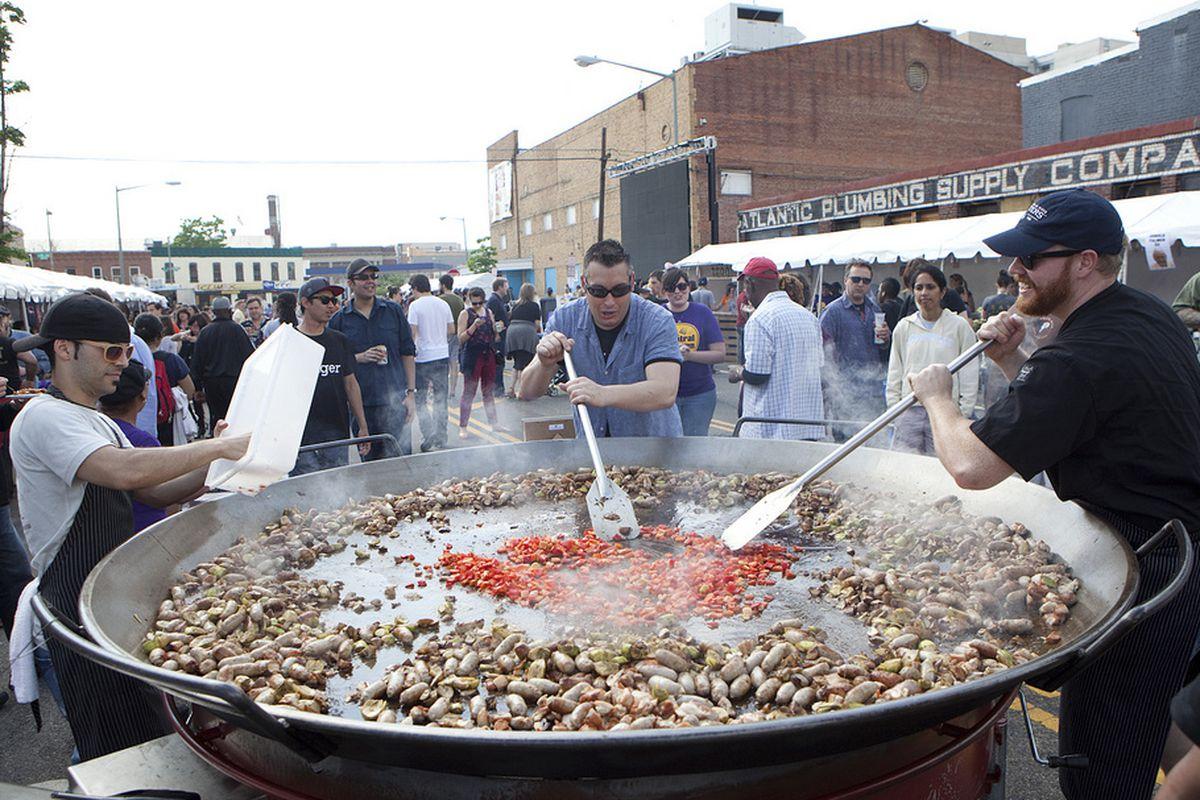 Jaleo's giant paella pan.