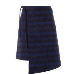 """Kenzo neon plaid brushed wool wrap skirt, <a href=""""http://www.openingceremony.us/products.asp?menuid=2&menuid2=209&designerid=1335&productid=112220&sproductid=112222&color=NAVY&size=38"""">$189</a> (was $630) at Opening Ceremony"""