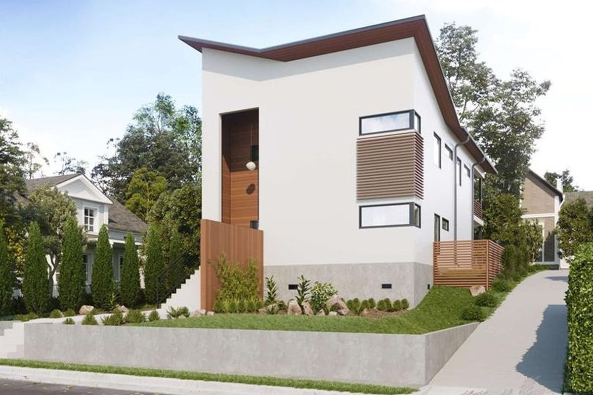 A rendering of a forthcoming modern home in Reynoldstown ATL.