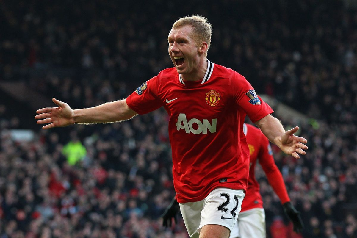 That look of joy is how all United supporters feel about Scholesy's return