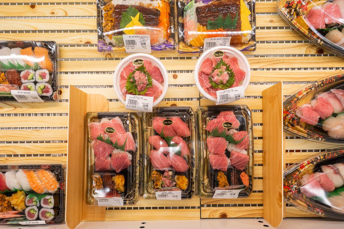 Grab-and-go sushi and more at Mitsuwa Marketplace's deli.