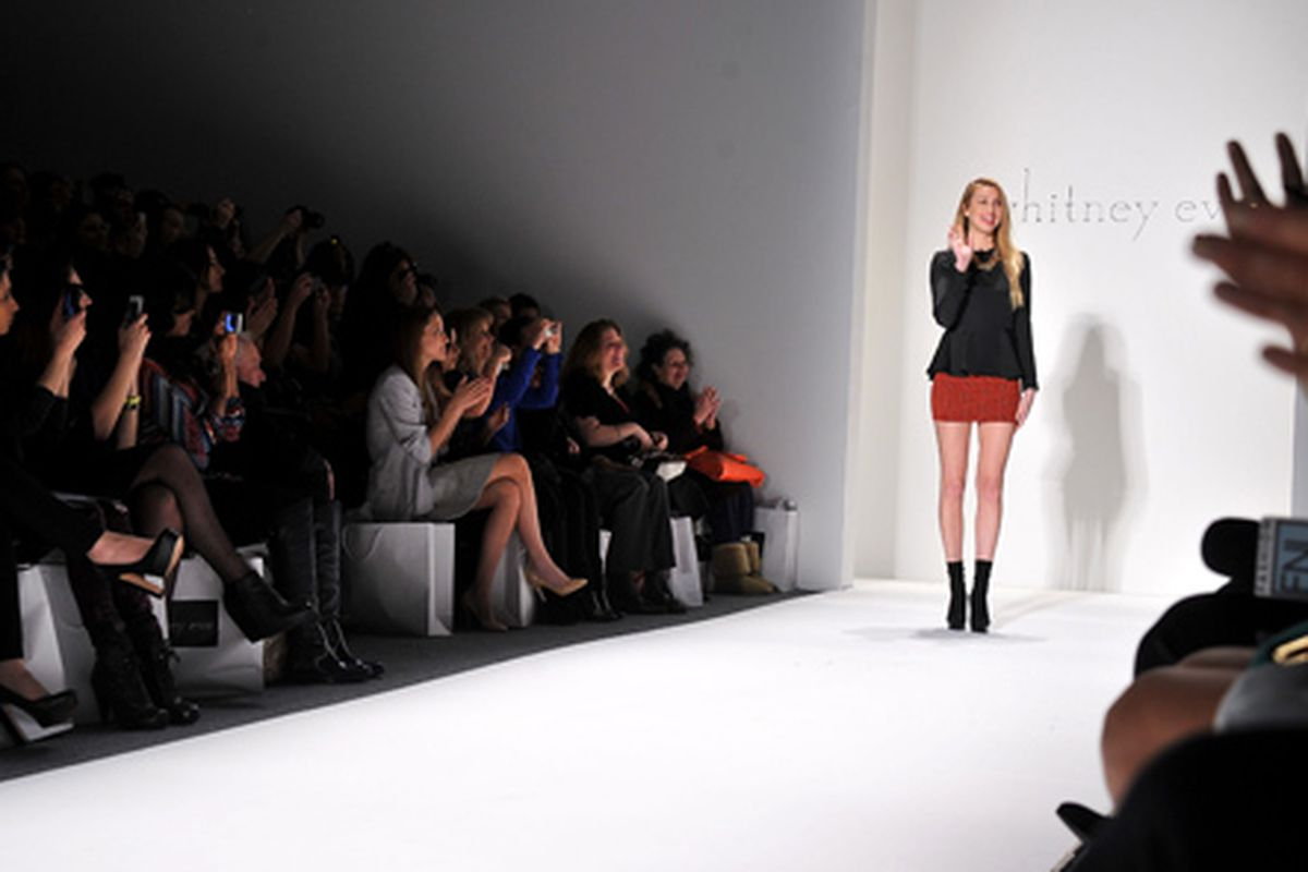 Whitney Port at her NYFW show. Photo via Getty.