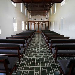 The multipurpose room is pictured at the Fundacion Nina Maria in Alban, Colombia, on Friday, Aug. 23, 2019. Thebenches were donated by The Church of Jesus Christ of Latter-day Saints.