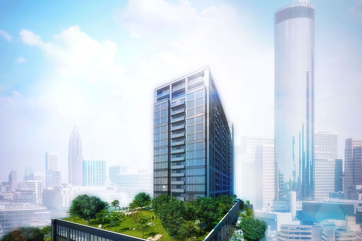 a rendering of the tower to come