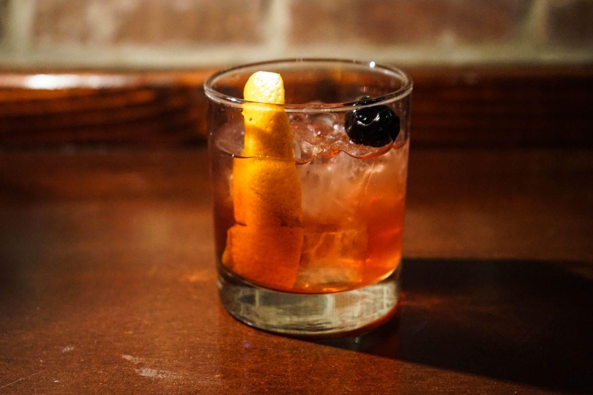 The Ambush cocktail at The Highwaymen's SXSW speakeasy at Banger's