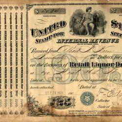 A 1905 liquor license, courtesy of Keens