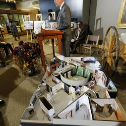 Elder Steven Snow speaks at the Church History Museum in Salt Lake City Wednesday, Sept. 24, 2014. Thirty years after its original opening, the Church History Museum will close on October 6, 2014, for one year to complete major renovations. The museum will reopen in fall 2015 with a newly designed floor plan and exhibitions.