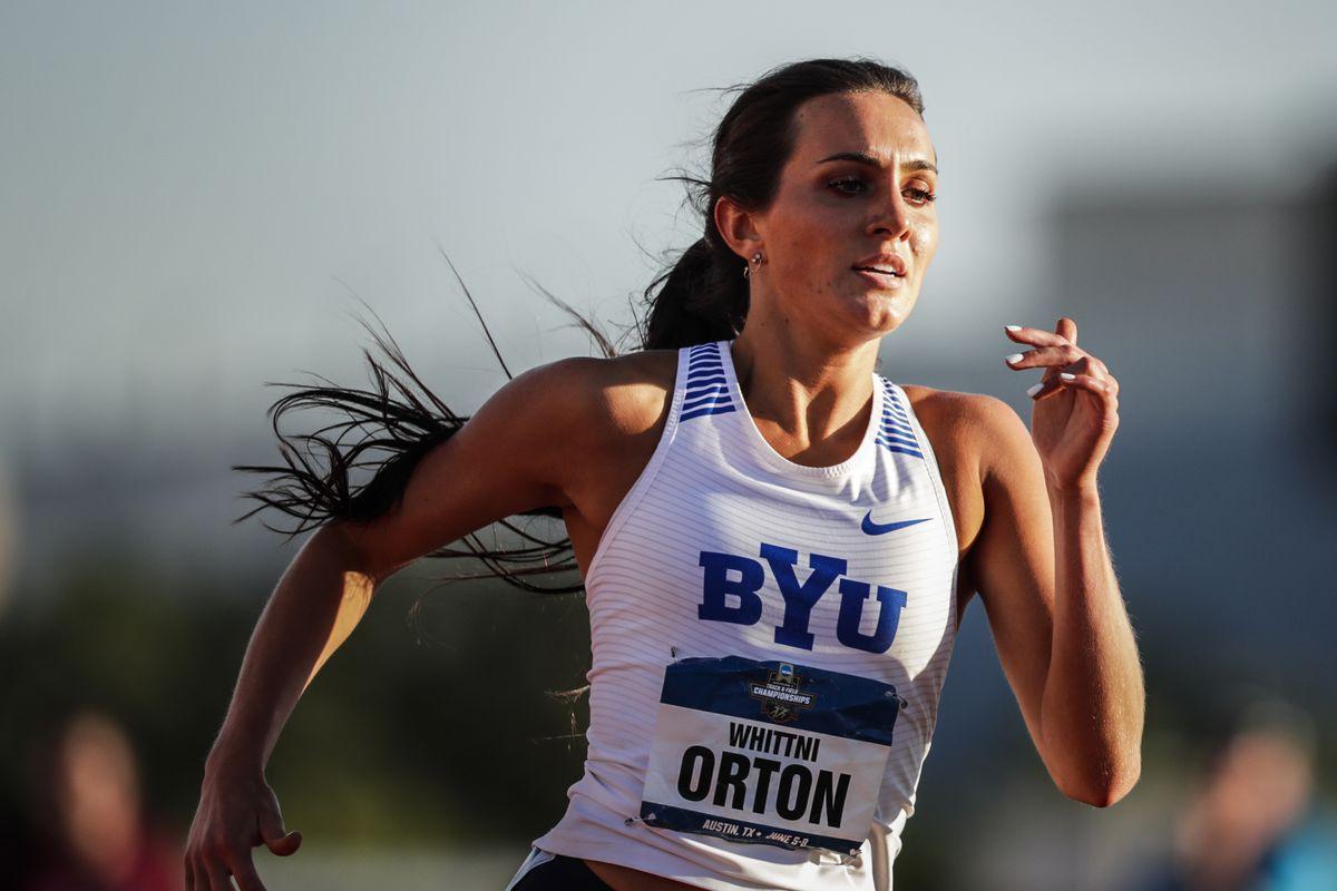 BYU's Whittni Orton broke the school record in the 5,000-meter run in the Sound Invitational in Irvine, California.