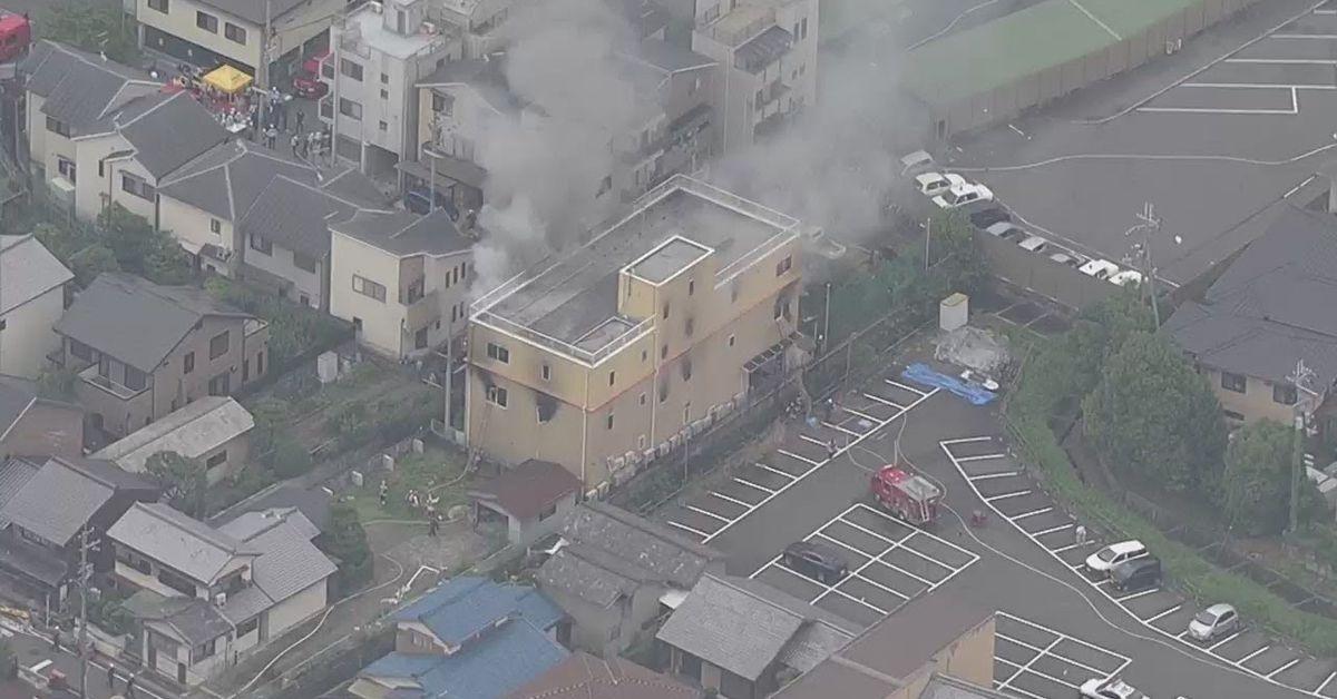 kyoto animation fire  33 dead  arson suspected