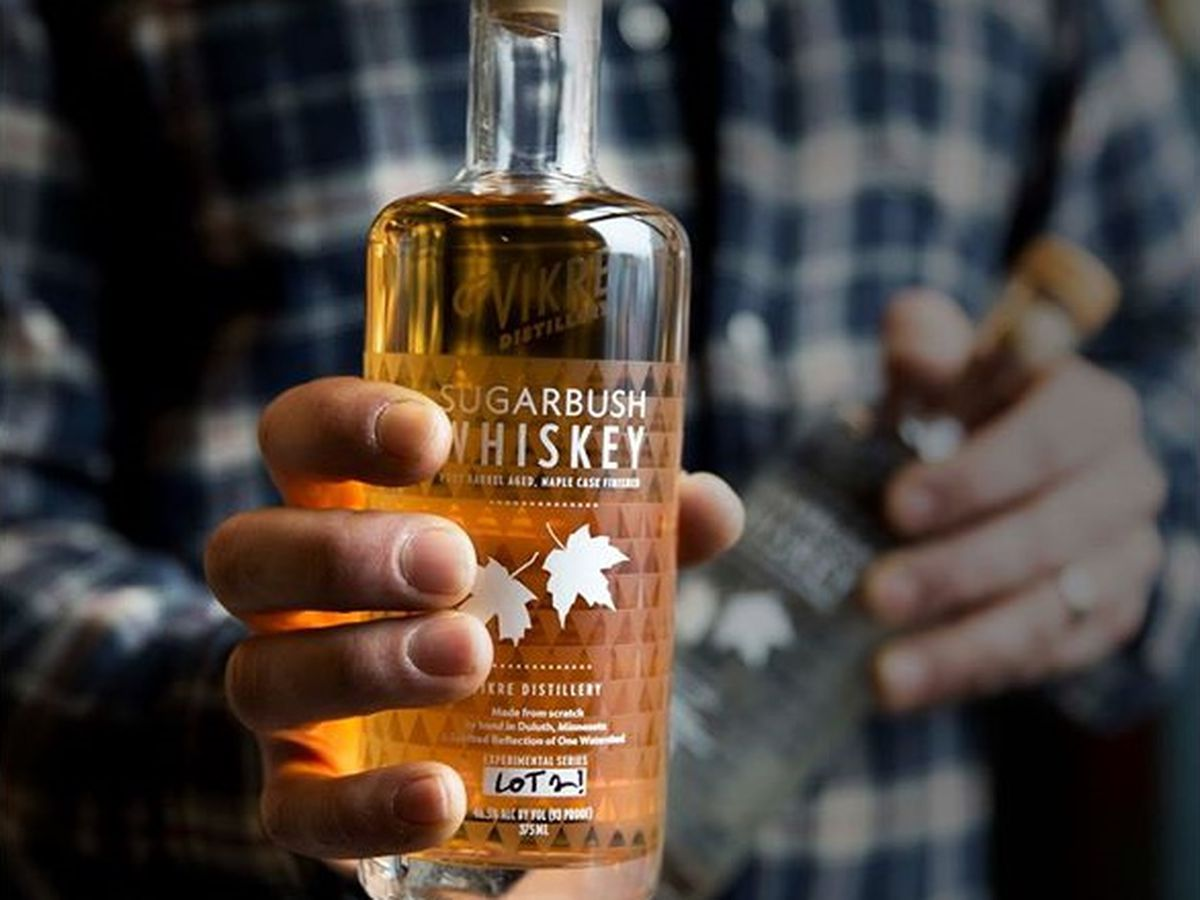 Locally made, limited run Sugarbush whiskey from Vikre Distillery