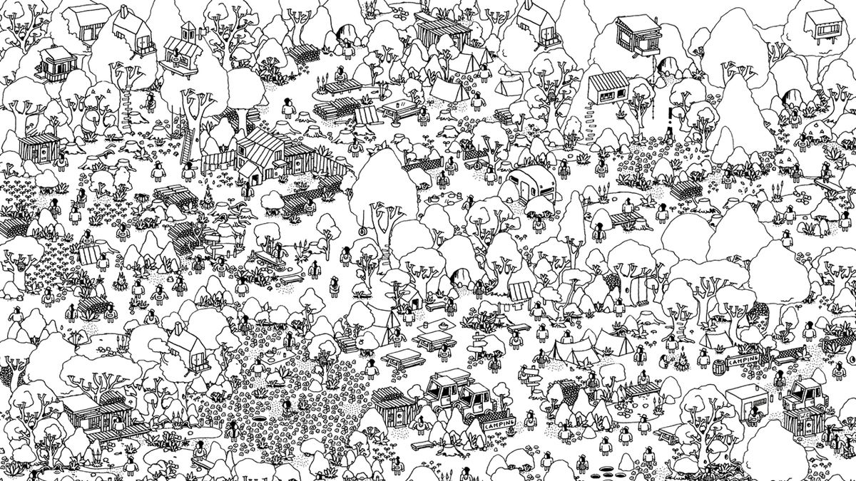 A landscape in Hidden Folks