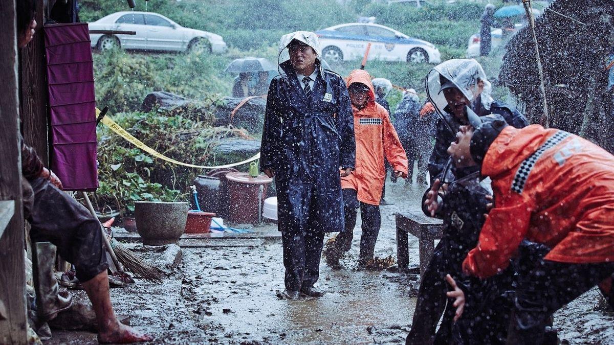 The Wailing - rainy detective scene