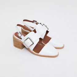 """<strong>Jeffrey Campbell</strong> Dilora Slingback Monkstrap Shoe, <a href=""""https://www.shopacrimony.com/products/jeffrey-campbell-dilora-slingback-monkstrap-shoe"""">$155</a> at Acrimony"""