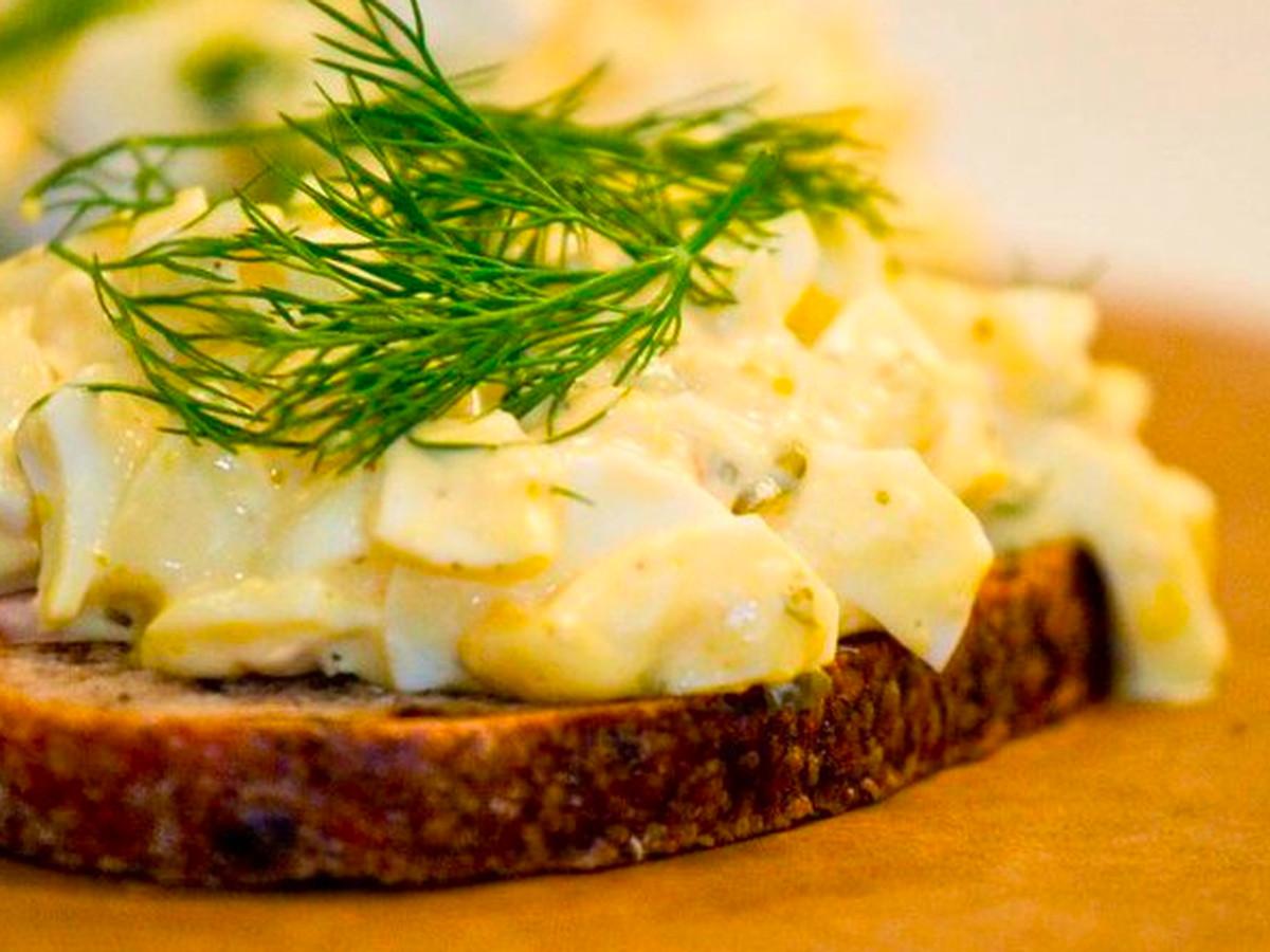 Egg salad sandwich at Olive & Thyme