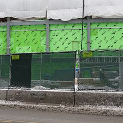 An awning appears to have been added where the Draft Kings Club was located