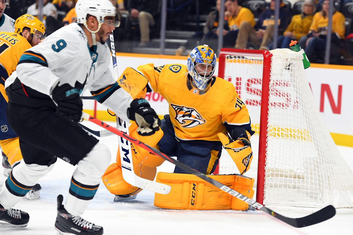 Nashville Predators 3, San Jose Sharks 1 Recap: Saros Shines in Weird Win