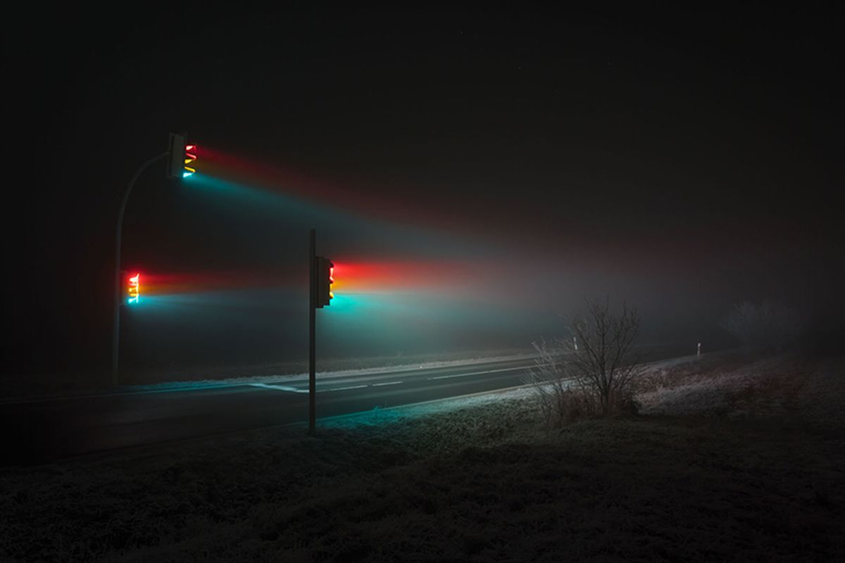 Traffic Signals Take On A Sinister Beguiling Light In New