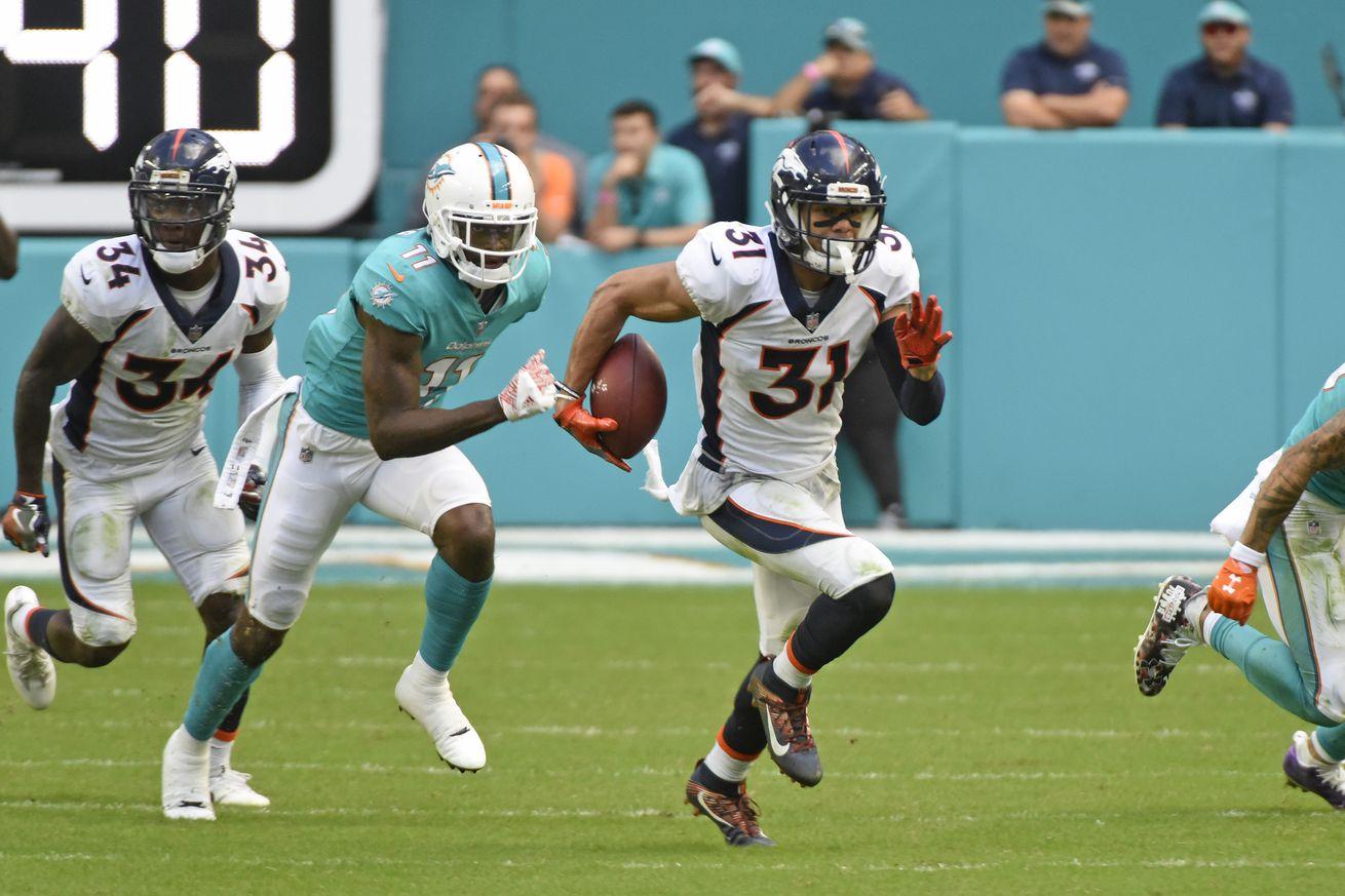 NFL: DEC 03 Broncos at Dolphins