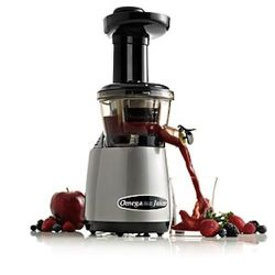 """Omega VRT 350: $380 """"For all their benefits, juicers are noisy, space-hogging appliances that are a hassle to wash. The Omega Vert 350, which proved efficient and powerful, chewing through every kale leaf and apple chunk we fed it without jamming or prod"""
