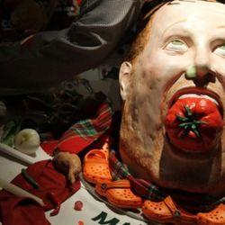 Mario Batali's severed head at Barneys