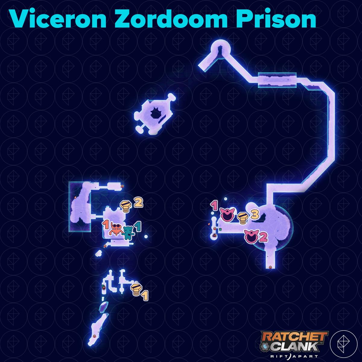 Ratchet & Clank: Rift Apart collectibles guide: Viceron Zordoom Prison