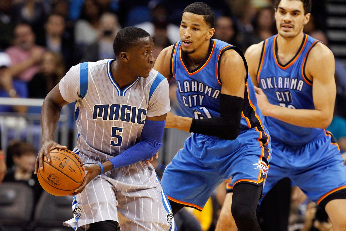 Victor Oladipo, Andre Roberson, and Steven Adams