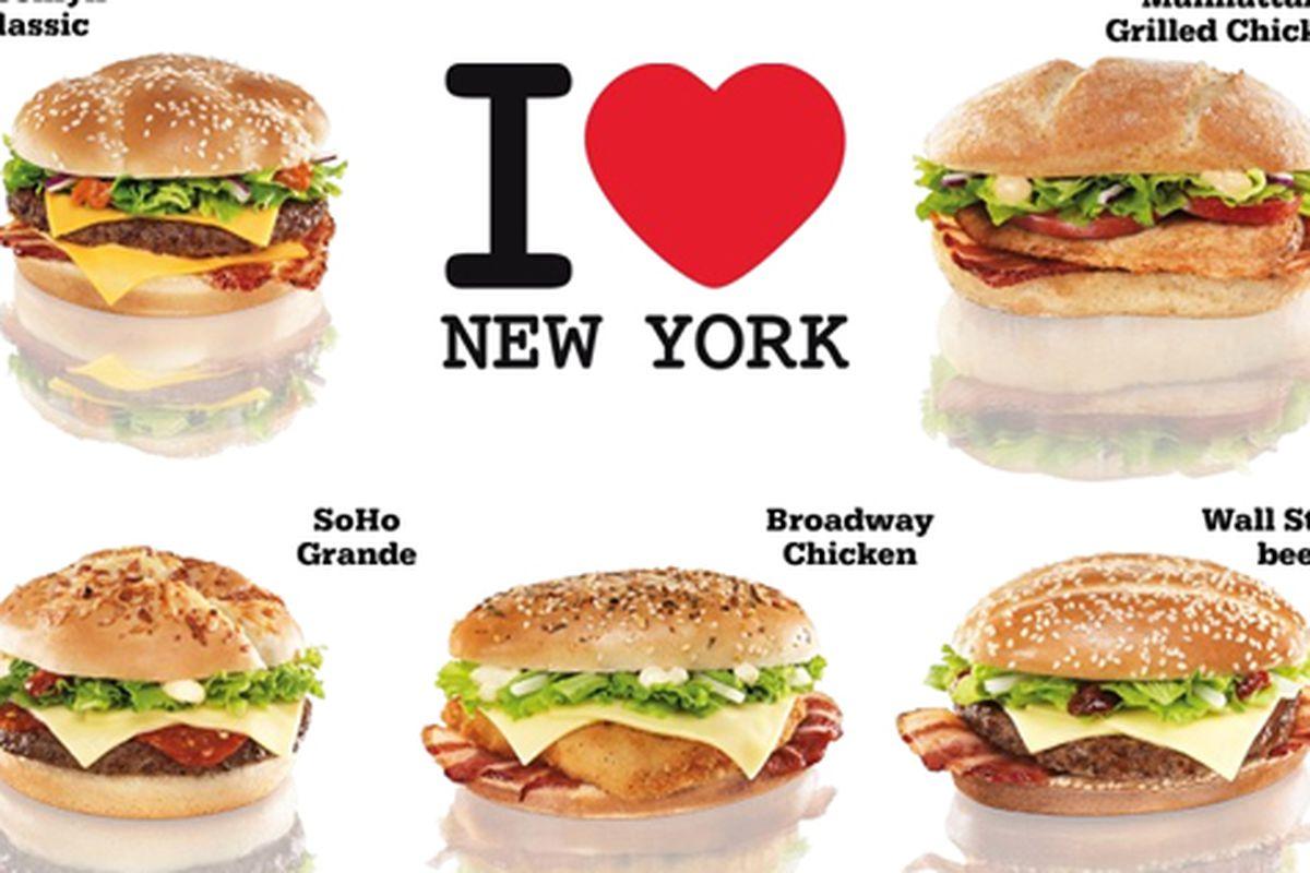 New York-Themed Burgers from McDonald\'s Czech Republic - Eater NY
