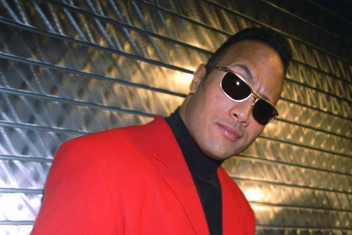 Wrestler The Rock is on hand for the opening of WWF New York