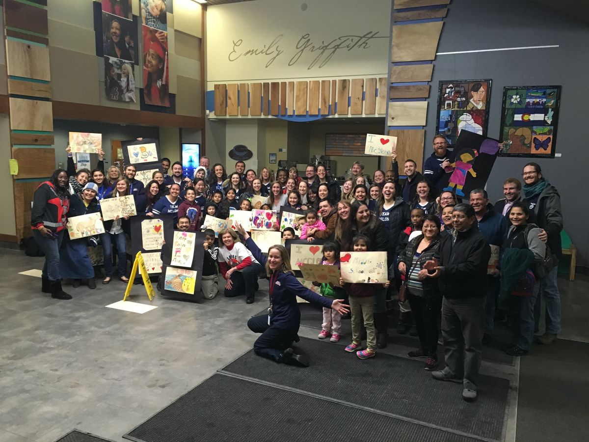 McGlone teachers, parents and students advocated for a middle school at a December school board meeting.