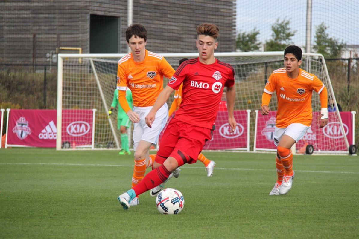 Toronto FC Academy take to the pitch against a Houston Dynamo side in GA Cup Qualifying action