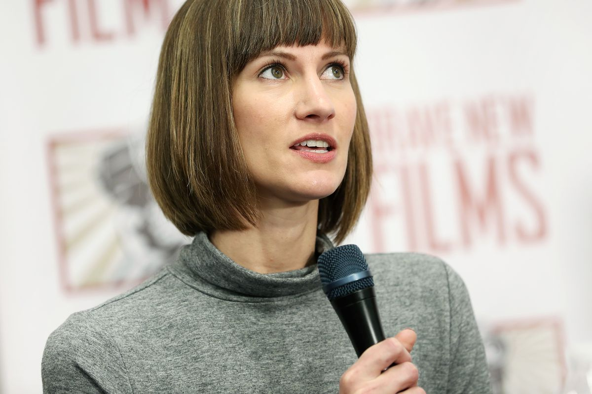 Rachel Crooks speaks during a December 2017 press conference held by women accusing President Donald Trump of sexual misconduct