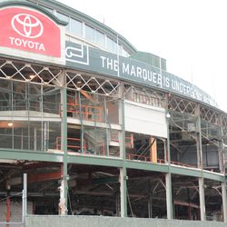 11:14 a.m. The front of the ballpark -