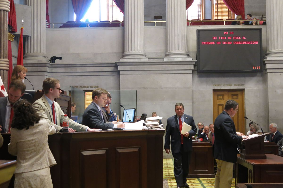 House Speaker Beth Harwell leads the penultimate floor session Monday of the 109th Tennessee General Assembly.