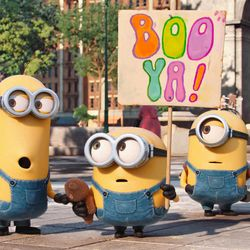 """Kevin, Bob and Stuart are on a mission in """"Minions."""""""