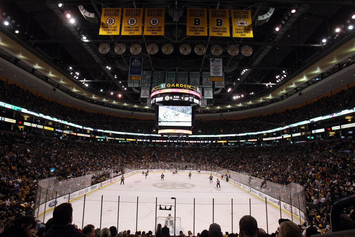 BOSTON, MA - OCTOBER 18:  The Boston Bruins take on the Carolina Hurricanes on October 18, 2011 at TD Garden in Boston, Massachusetts.  (Photo by Elsa/Getty Images)