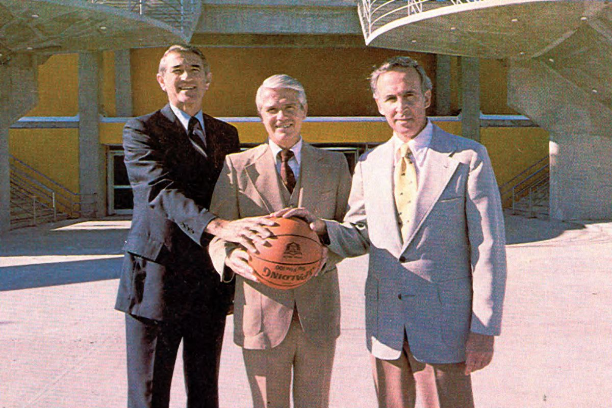 Dick Bowers, Lee Rose, and John Lott Brown, following USF's first-ever coaching coup. Could there be another one soon?