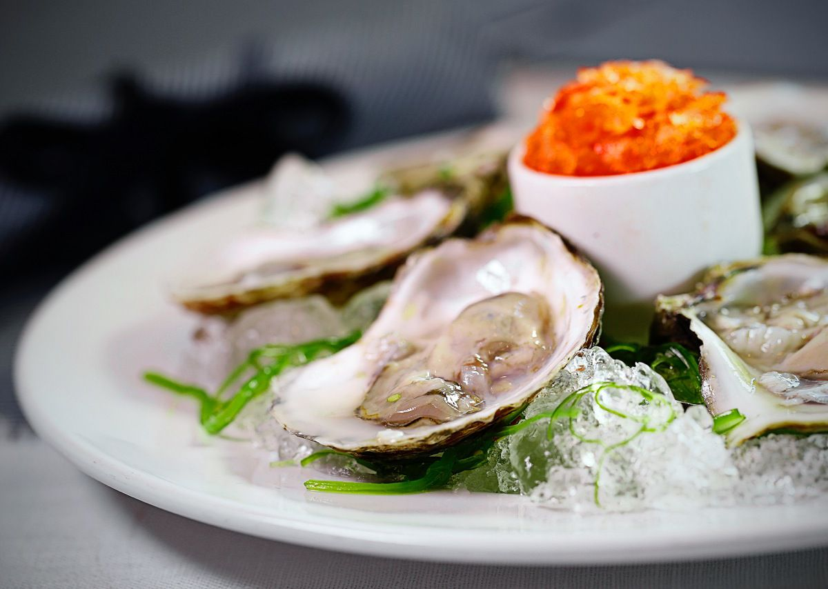 Raw oysters with granita