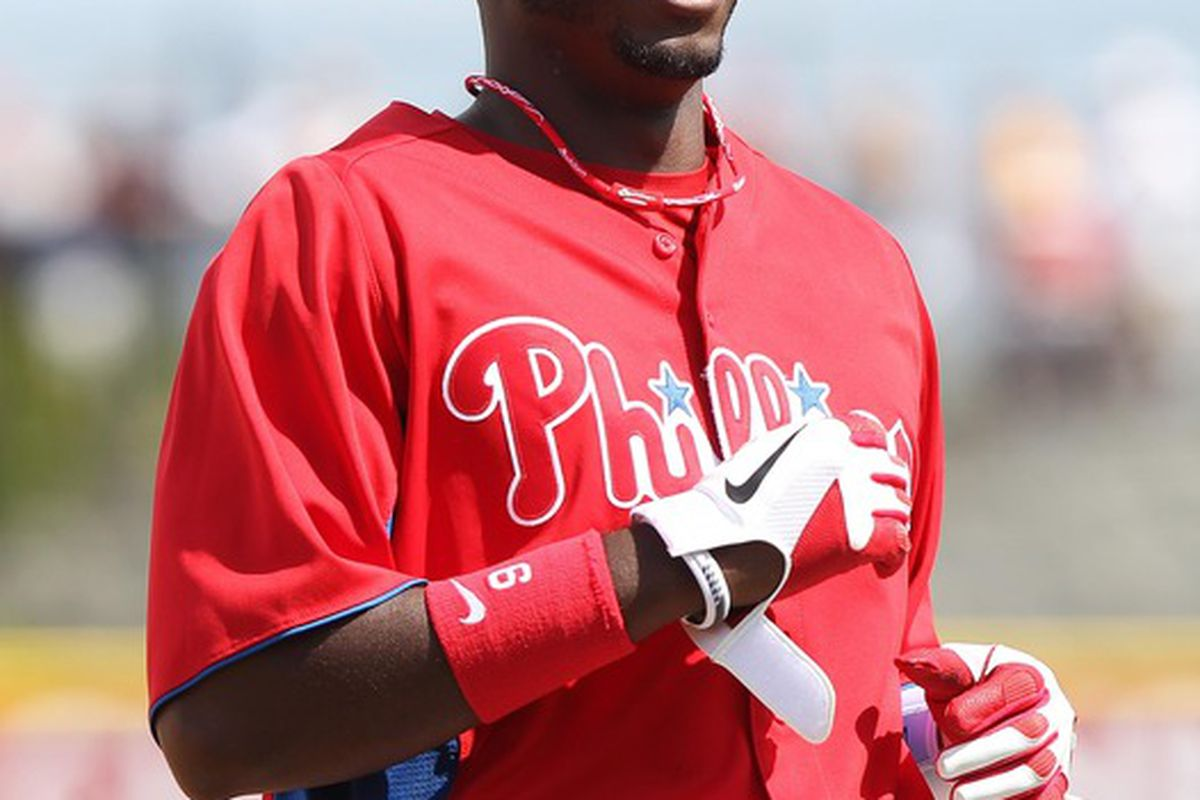 Dom Brown's development would be very nice in 2012, but it's a truly big deal for 2014. Mandatory Credit: Kim Klement-US PRESSWIRE