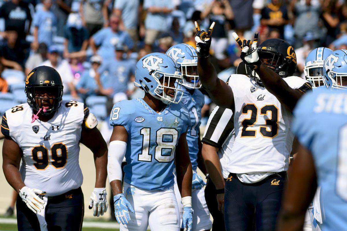 NCAA Football: California at North Carolina