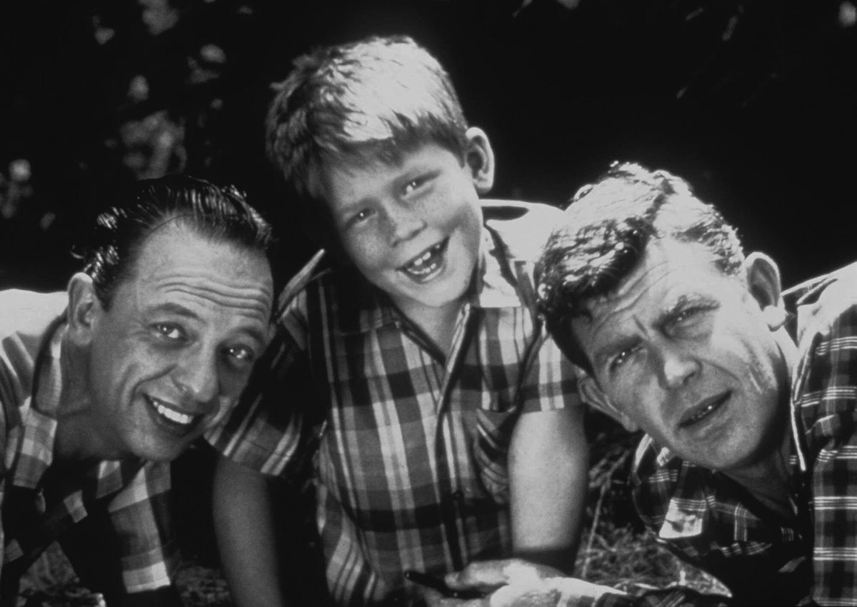 """The cast of """"The Andy Griffith Show"""" include: Don Knotts as Deputy Barney Fife (from left), Ron Howard as Opie Taylor and Andy Griffith as Sheriff Andy Taylor."""