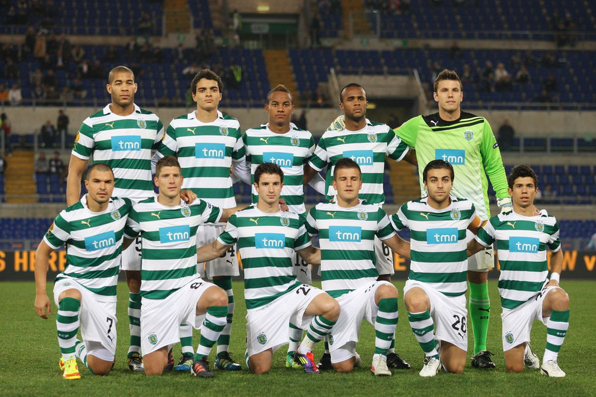 Sporting's lineup for a 2011 Europa League match. Photo
