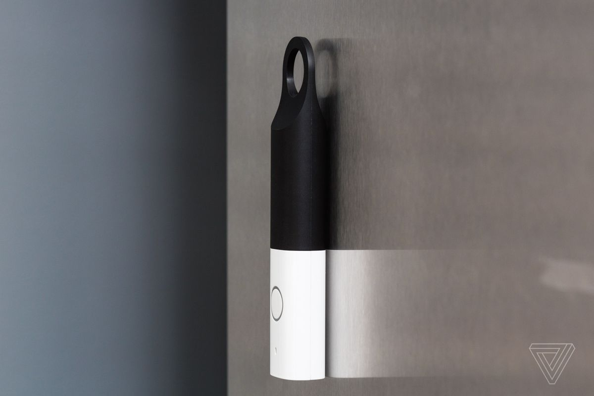 The Dash Wand on a fridge