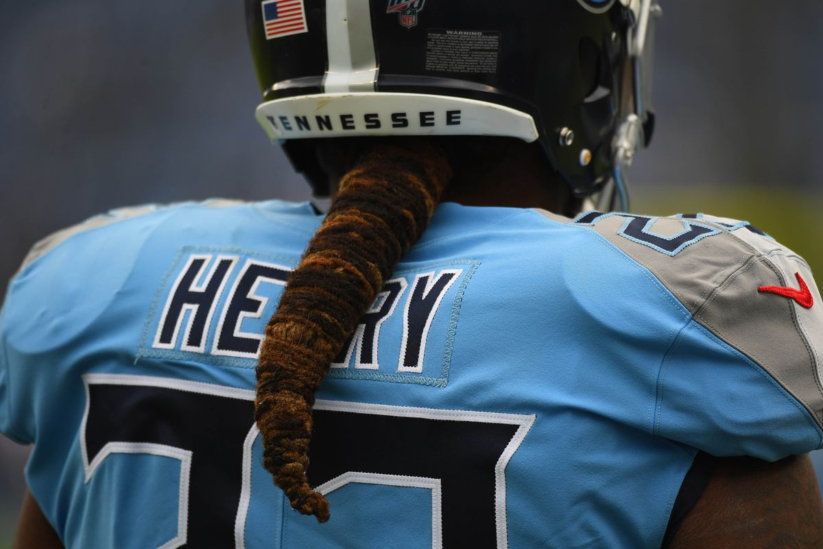 Tennessee Titans running back Derrick Henry before the game against the Houston Texans at Nissan Stadium.