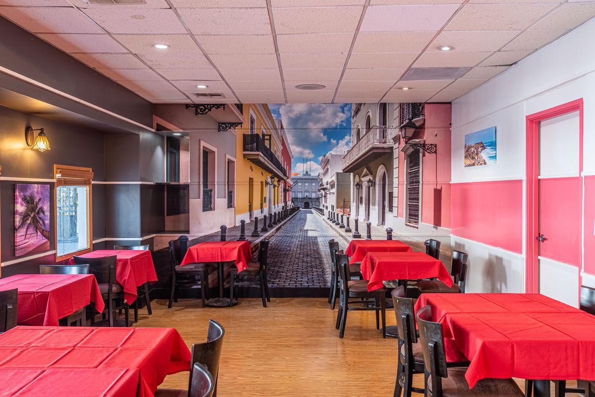 Inside Rumba Kitchen in Little Tokyo, Los Angeles.