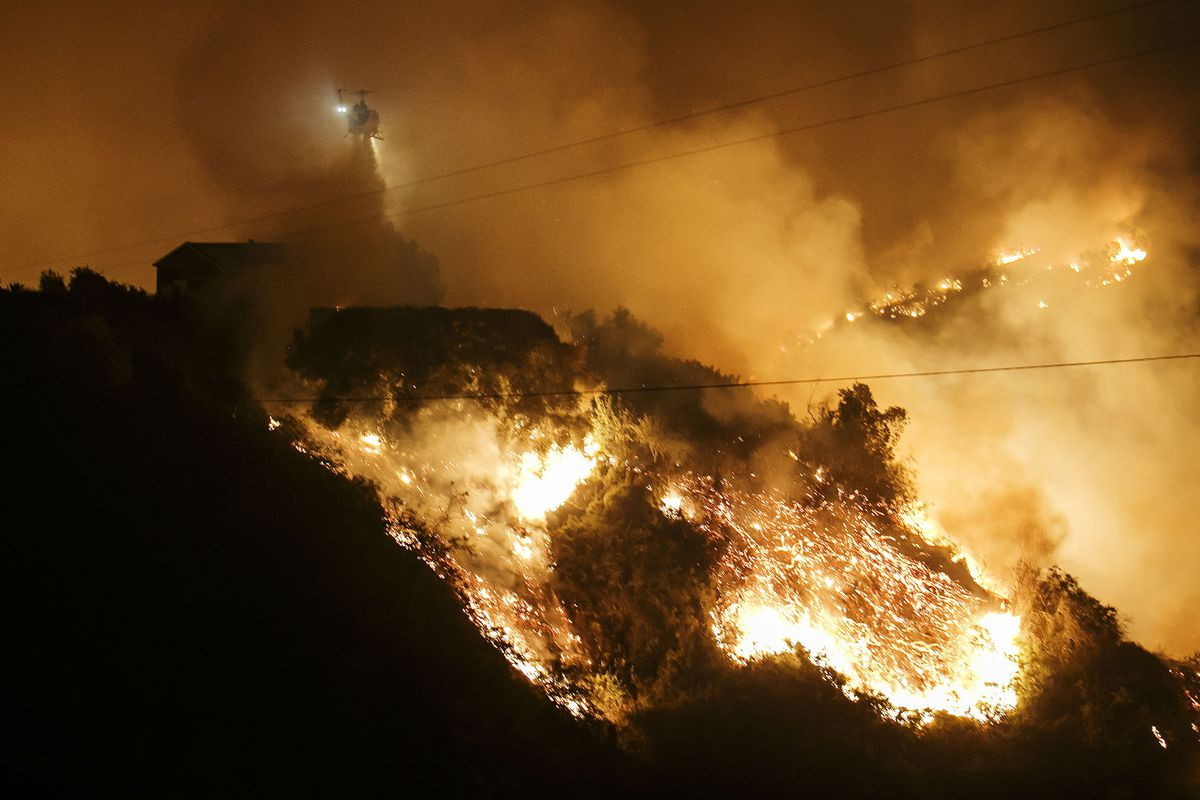 Flames Make Their Way Up The Shepard Mesa Neighborhood As Thomas Fire Raged Out Of Control Overnight In Carpinteria CA On Dec 10 2017
