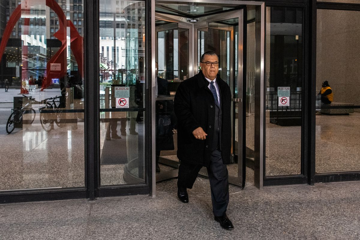 Former state Sen. Martin Sandoval, shown earlier leaving the federal courthouse early last year.