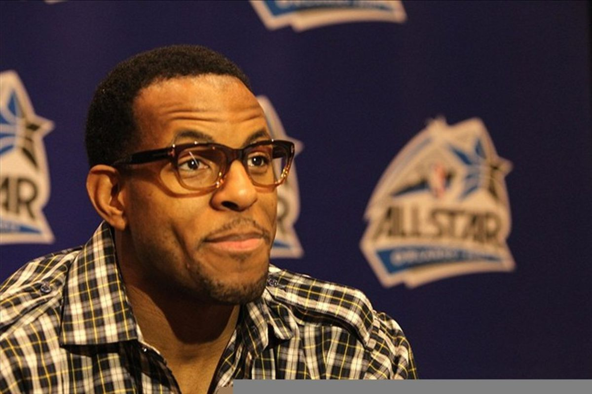 Andre Iguodala. New Nugget, and wearing eyeglasses just for the style.