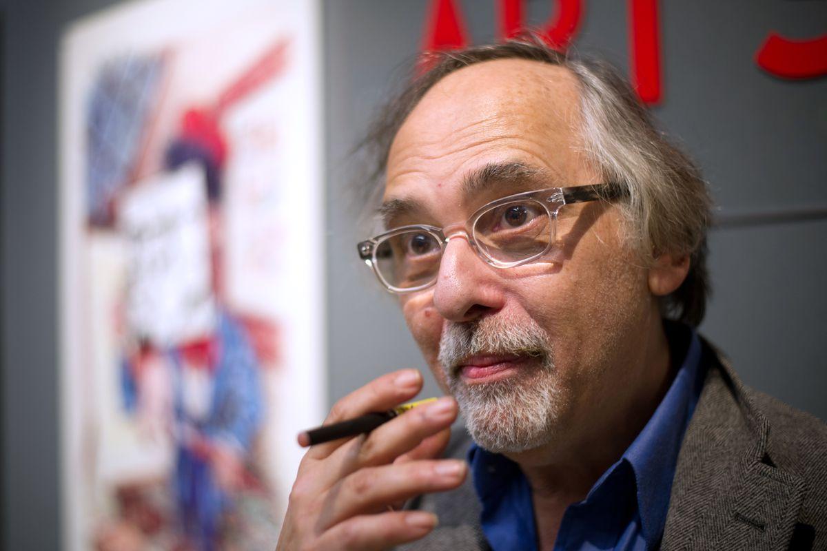 US comic book artist Art Spiegelman in Paris, 2012.